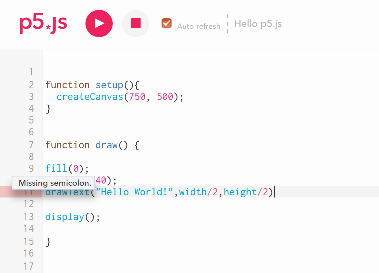 Introduction to the p5 js programming framework