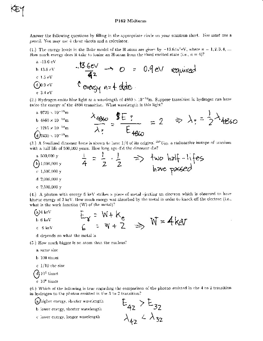 physics mid term questions Practice questions for astronomy i – exam 1 1 what is the maximum number of planets readily visible to the naked eye on a given night.